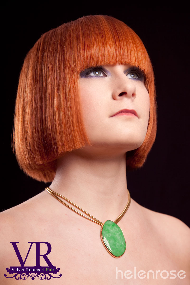 Sharp modern bob hair cut