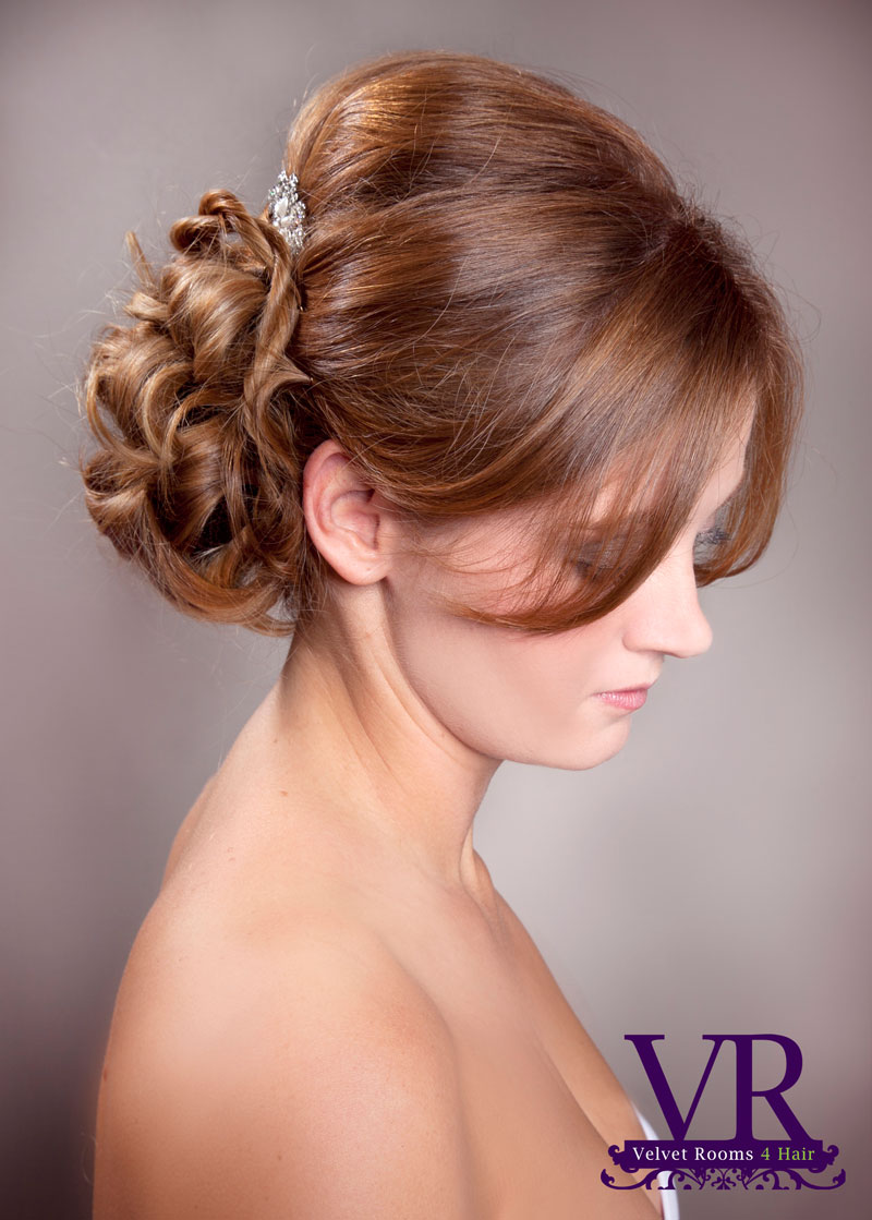 Velvet Rooms Bridal hair up do