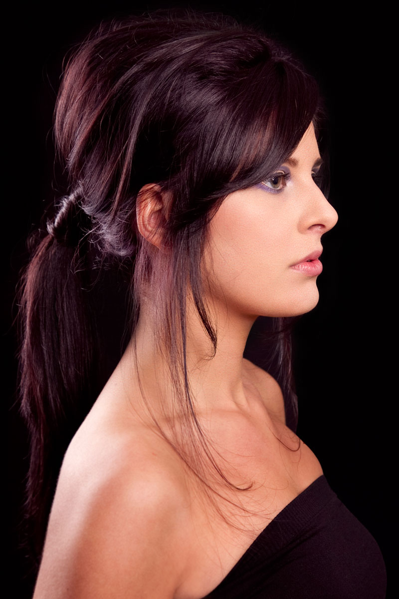 Deep plum in colour posh ponytail