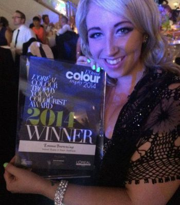 Emma won the L'Oreal Young colourist of the year!